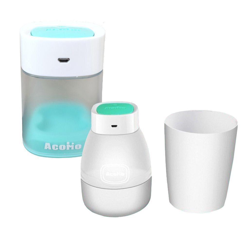 AcoMo - PS II USB 紫外線消毒器特惠組-6 分鐘殺菌可攜式消毒器+2 分鐘奶嘴個人消毒器-Tiffany/蒂芙尼綠