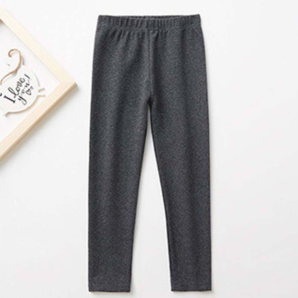 日本 TORIDORY - 舒適質感素色內搭褲-深灰