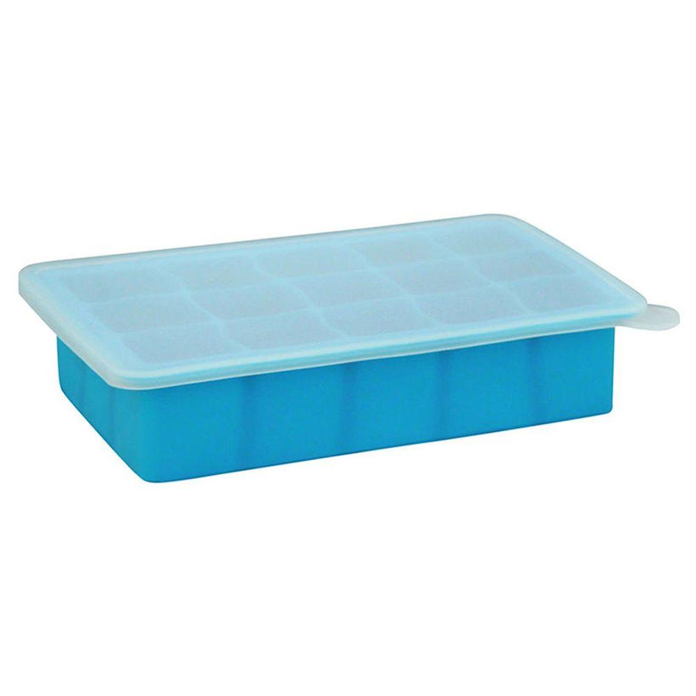 美國 green sprouts - 寶寶副食品15格冷凍盒/製冰盒-藍色