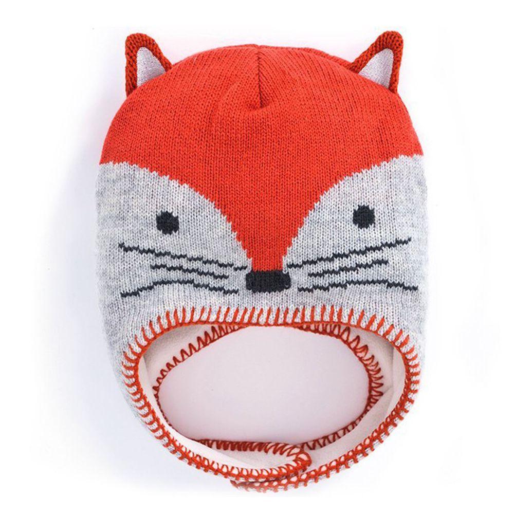 英國 JoJo Maman BeBe - 保暖舒適羊毛帽-調皮狐狸