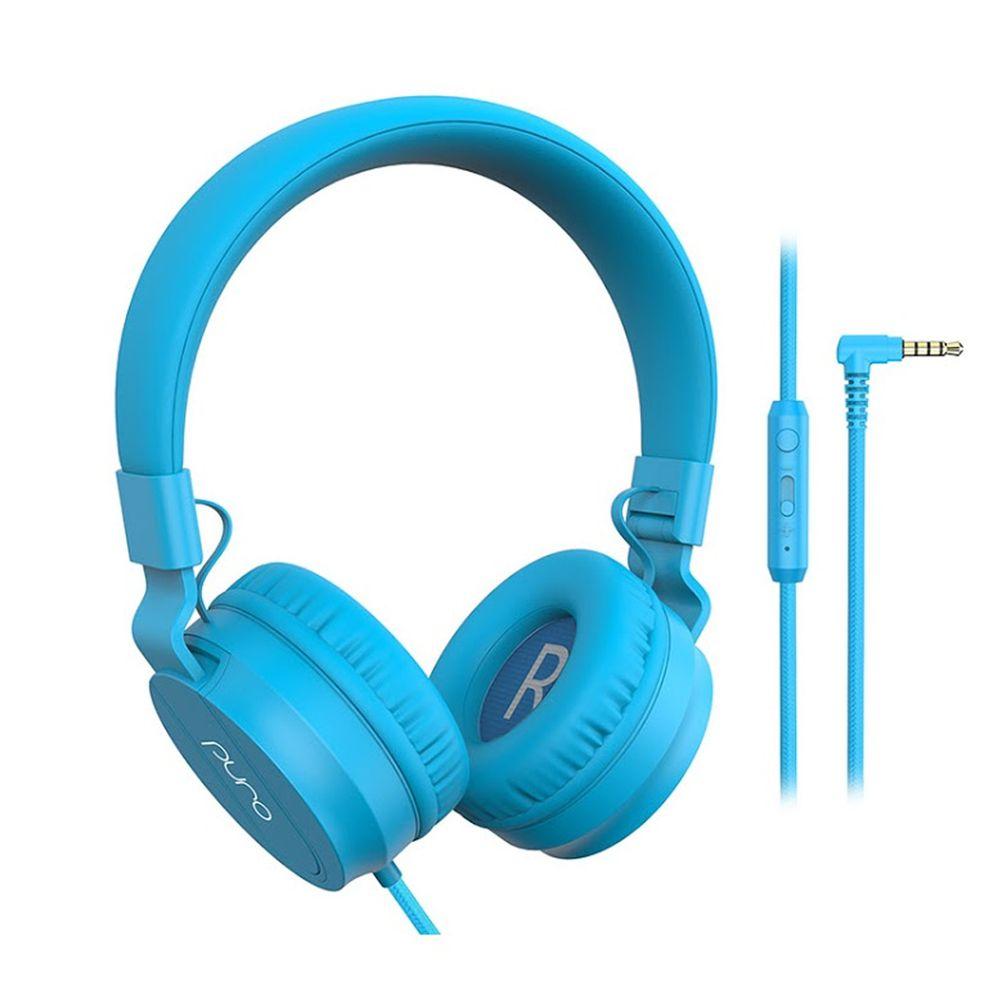 PURO SOUND LAB - PuroBasic 兒童耳機-附麥克風-藍色 (18 x 16.5 x 7.5 cm)