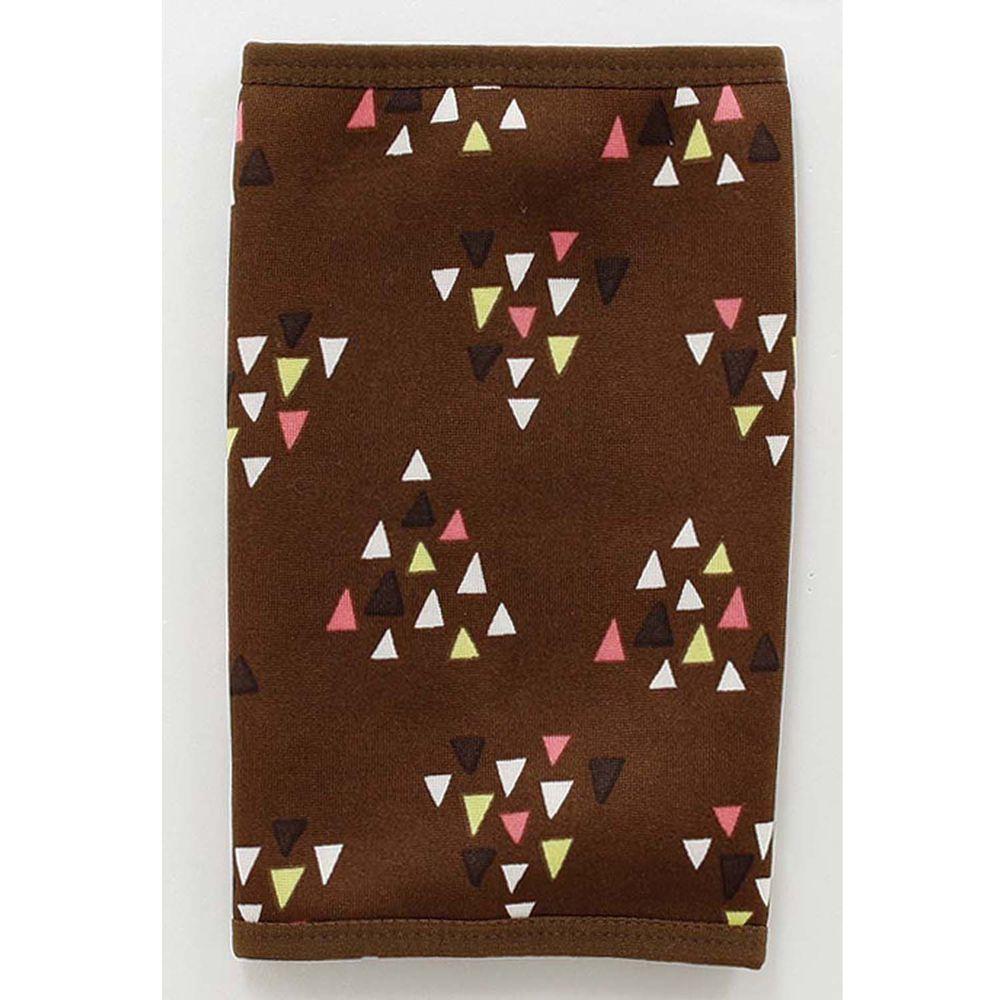 日本丸和 - 雙層機能裏起毛保暖襪套-三角幾何-咖啡 (13x20cm)