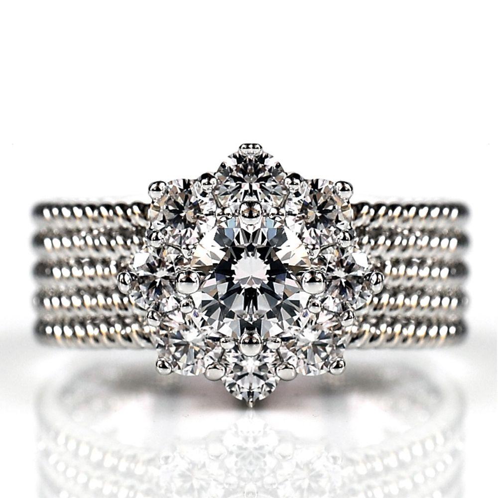 美國ILG鑽飾 - Focus of love 0.75克拉戒指 超好看寬版鑽戒 修飾手指顯瘦-頂級美國ILG鑽飾,媲美真鑽亮度的鑽飾-加贈高級珠寶級絨布盒1個-外國抗敏材質電鍍頂級白K金色