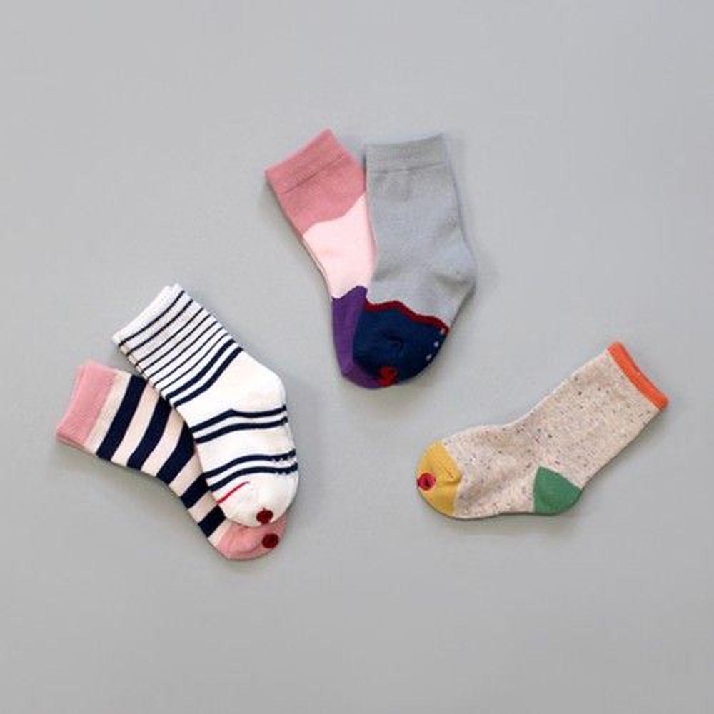 韓國 Kokacharm - 韓國製踝襪-五件組-Woodland socks