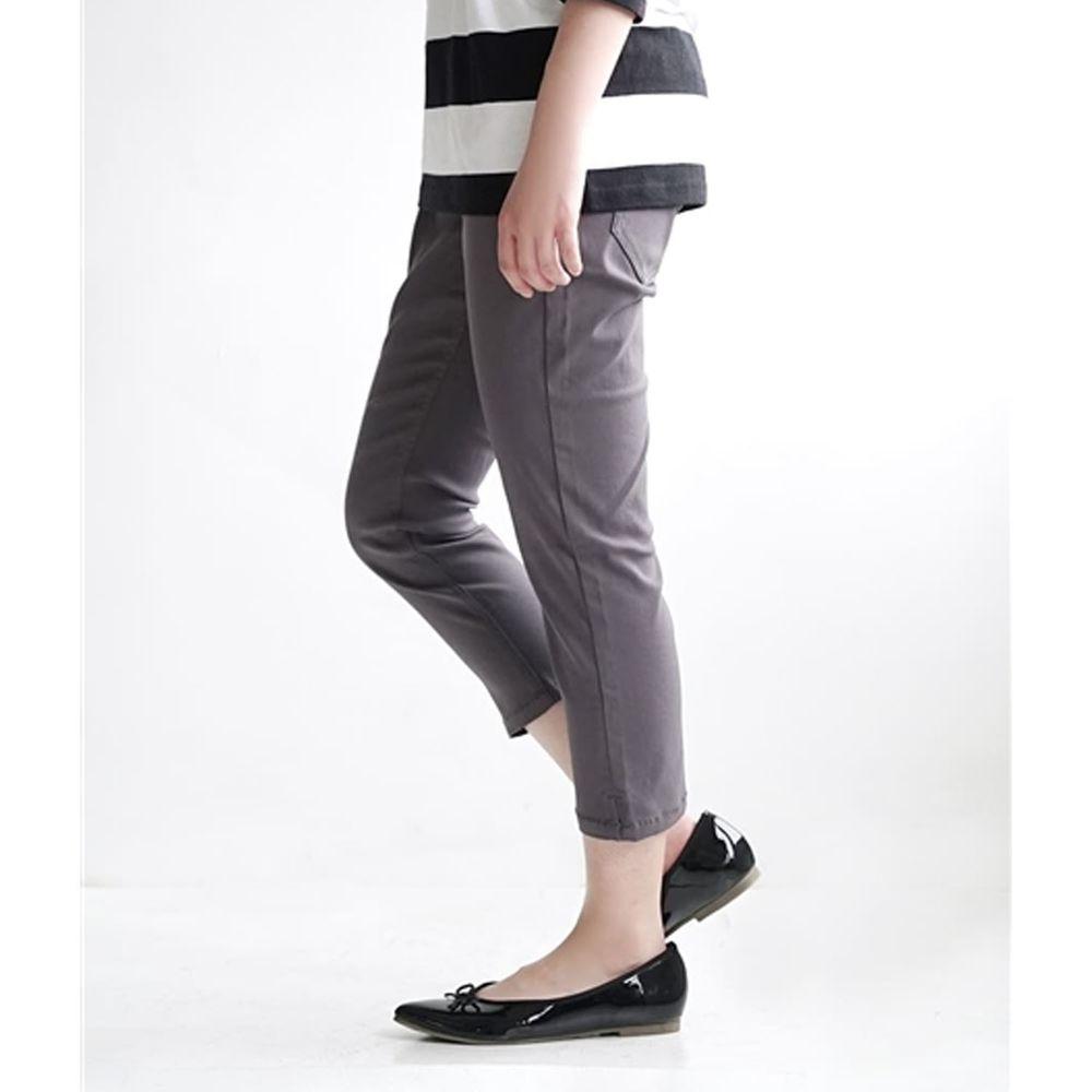 日本 zootie - Air Pants 輕薄彈性修身七分褲-深灰