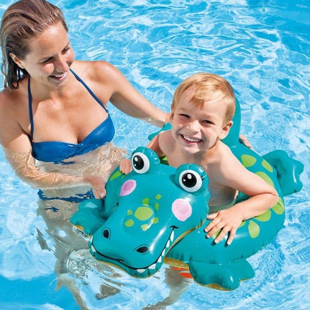 INTEX - INTEX 造型游泳圈 適用3-6歲 (58221)-鱷魚