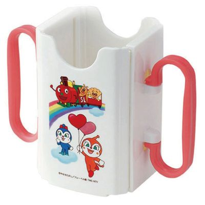 AN麵包超人利樂包飲料輔助器(有手把)-白