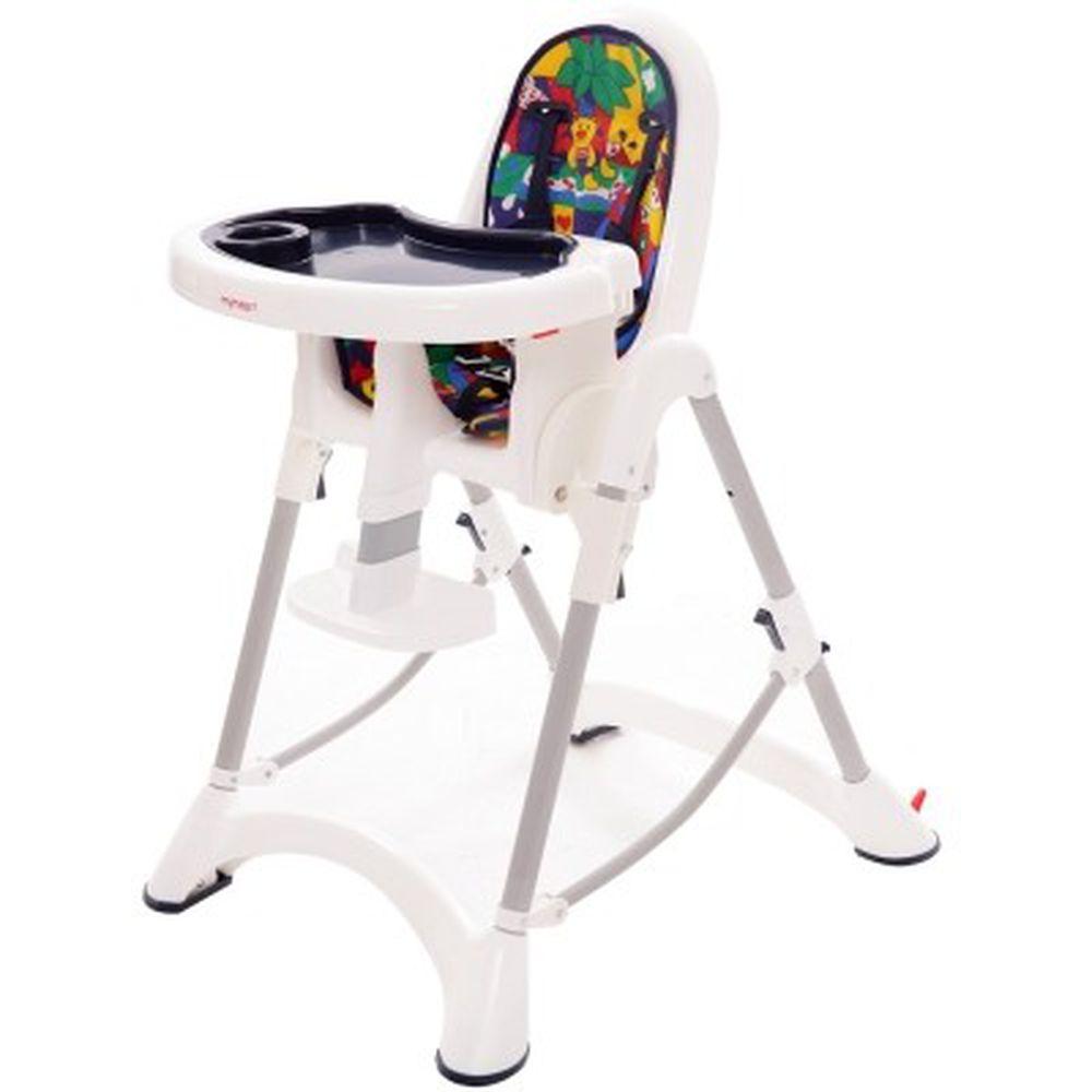 myheart - 折疊式安全兒童餐椅-卡通藍