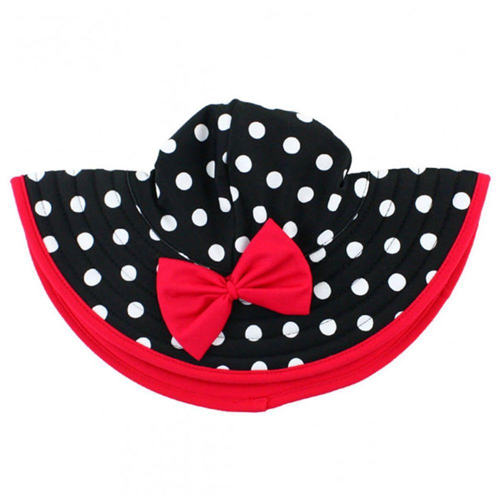 美國 RuffleButts - 嬰幼兒遮陽帽-復古圓點