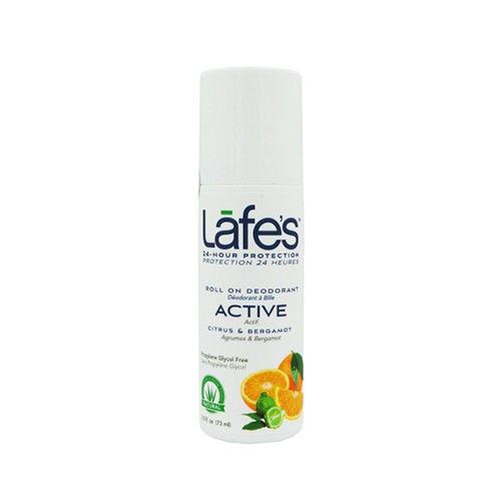 美國 Lafe's organic - 純自然體香劑-運動清爽-88ml 滾珠瓶