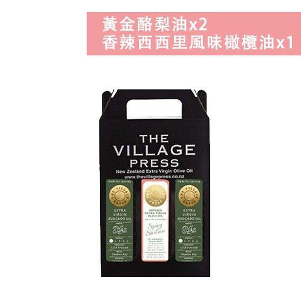 壽滿趣 - 紐西蘭廚神 頂級豪華優惠三件禮盒組-黃金酪梨油*2+香辣西西里風味橄欖油-250ml*3