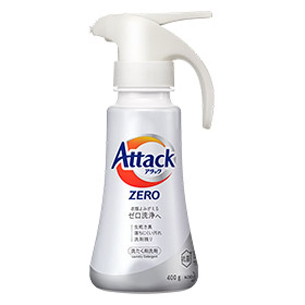 日本花王 - Attack Zero 超濃縮洗衣精-單手按壓式-(適合直立式洗衣機)-400g