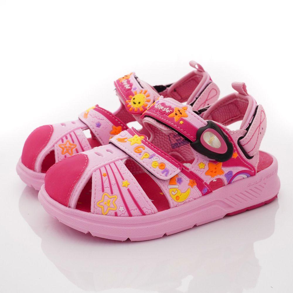 G.P - 護趾磁扣兩穿涼拖鞋款(中小童段)-粉
