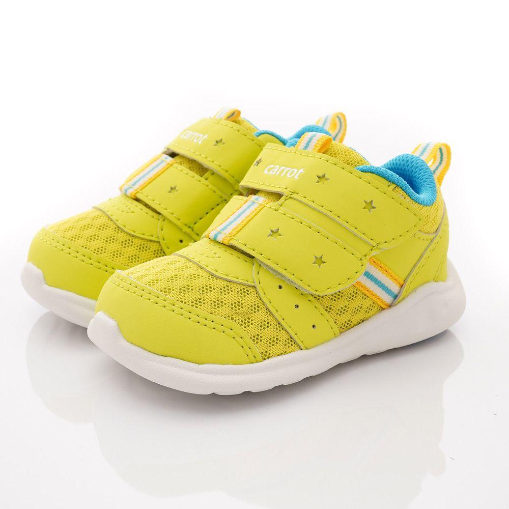 Moonstar日本月星 - 玩耍速乾可機洗學步鞋款(寶寶段)-黃綠色