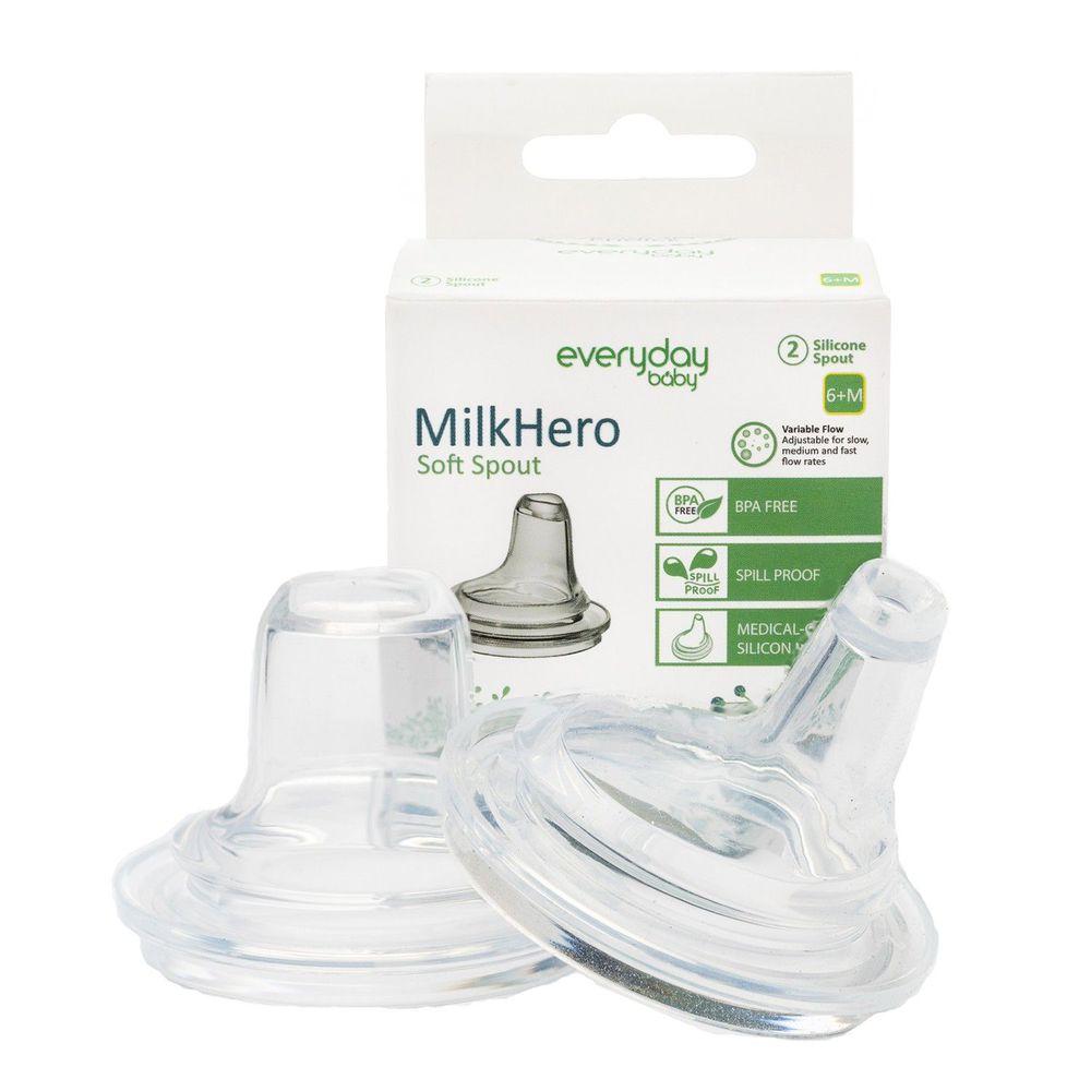 瑞典 everyday baby - MilkHero 親膚實感安心奶嘴 (鴨嘴型)-2入