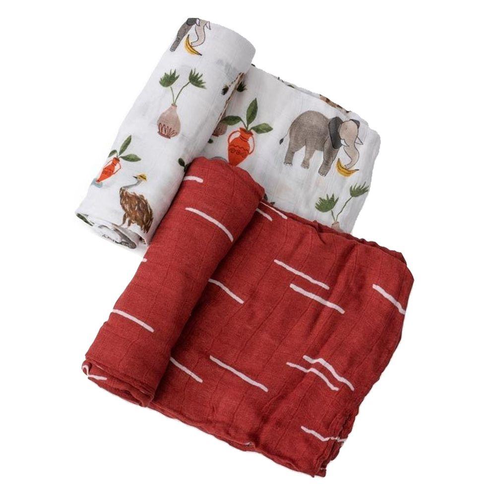 美國 Little Unicorn - 竹纖維紗布巾兩入組-動物園