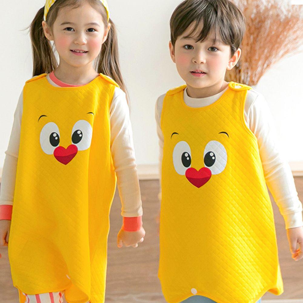 韓國 Maykids - 有機棉鋪棉保暖防踢被-大眼小雞