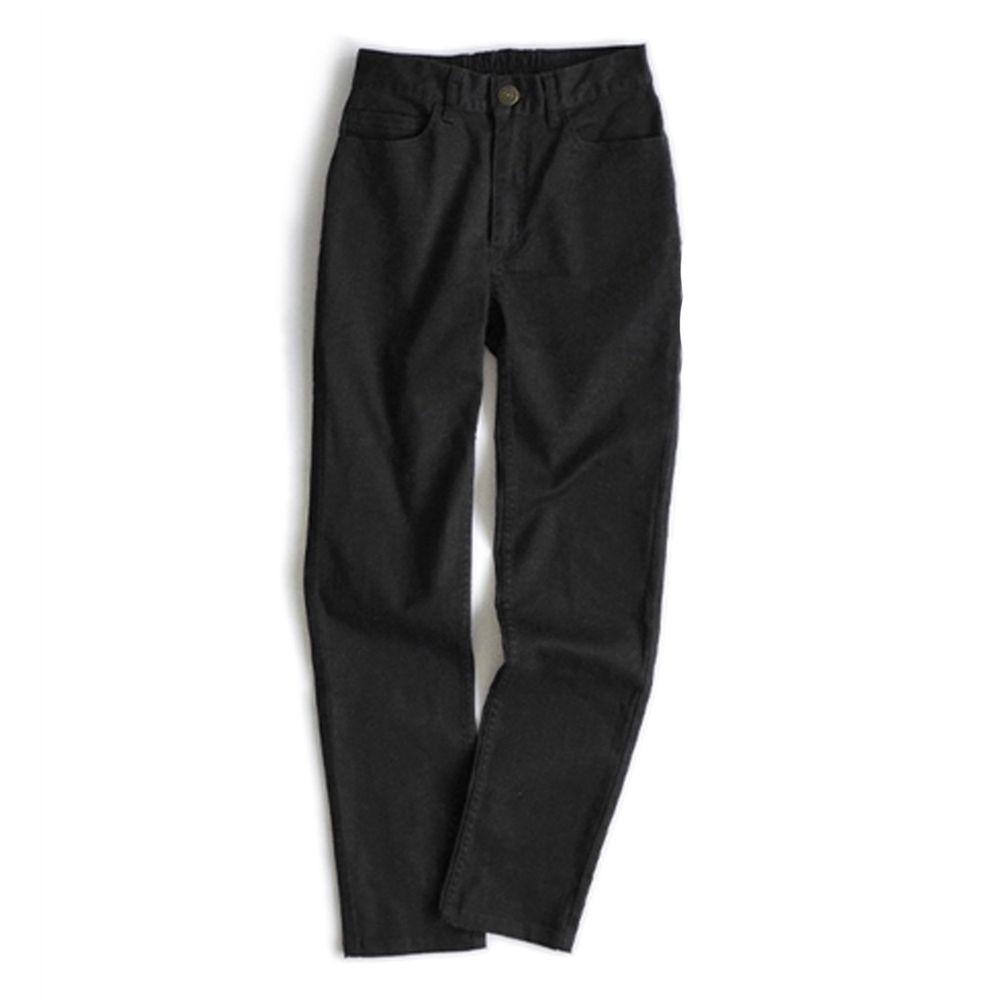 日本 zootie - Better Pants [定番] 率性基本挺款純棉直筒褲-黑