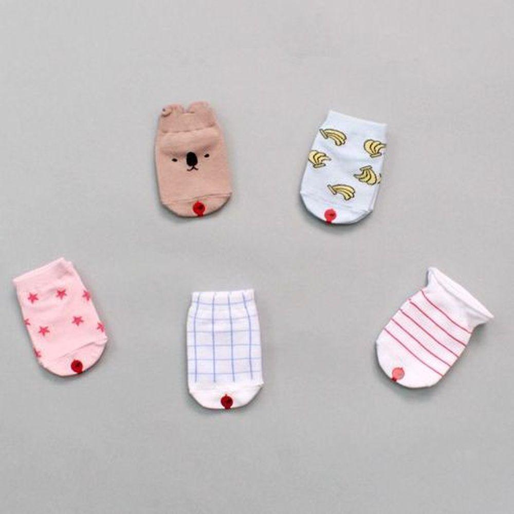 韓國 Kokacharm - 韓國製船型襪-五件組-Jungle Socks