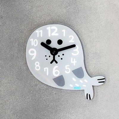 韓國NINO HapPy TimE童趣時鐘-海豹Robby (26*26cm)