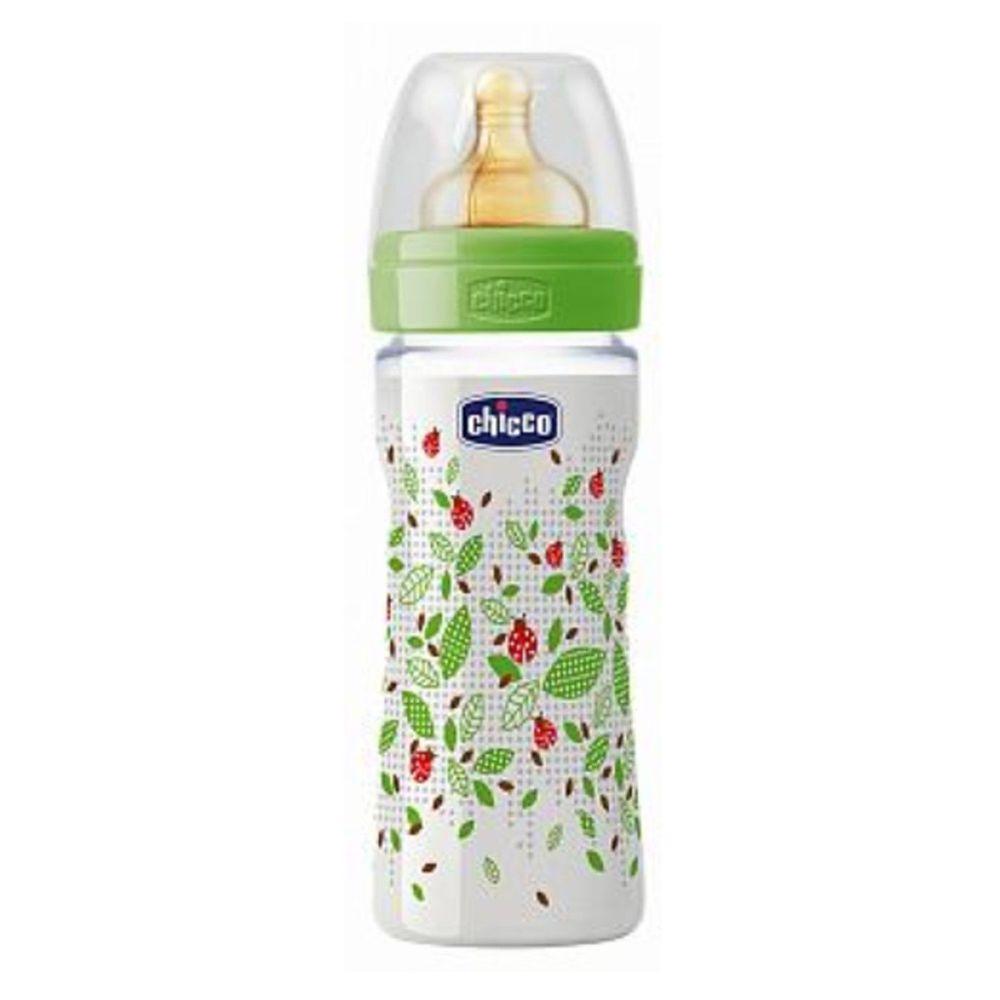 義大利 chicco - 舒適哺乳-自然田園乳膠PP奶瓶-大(2m+) (250ml)-單孔