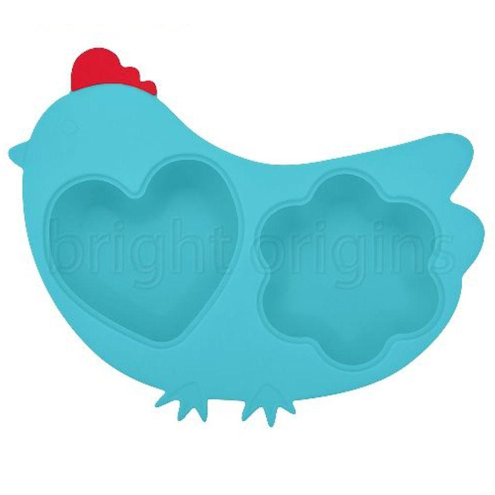 美國Innobaby - Innobaby 歡樂小雞矽膠蒸盤-水藍