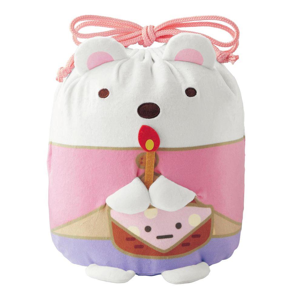 日本千趣會 - 角落生物 彈性伸縮球型束口收納袋-電影版限定-白熊 (L(最大約35x23x15cm))