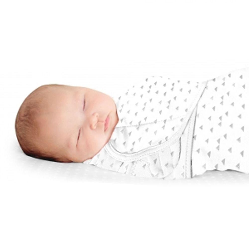 Summer Infant - 奢華舒眠安撫包巾-三角點點-適用年齡:0~3個月