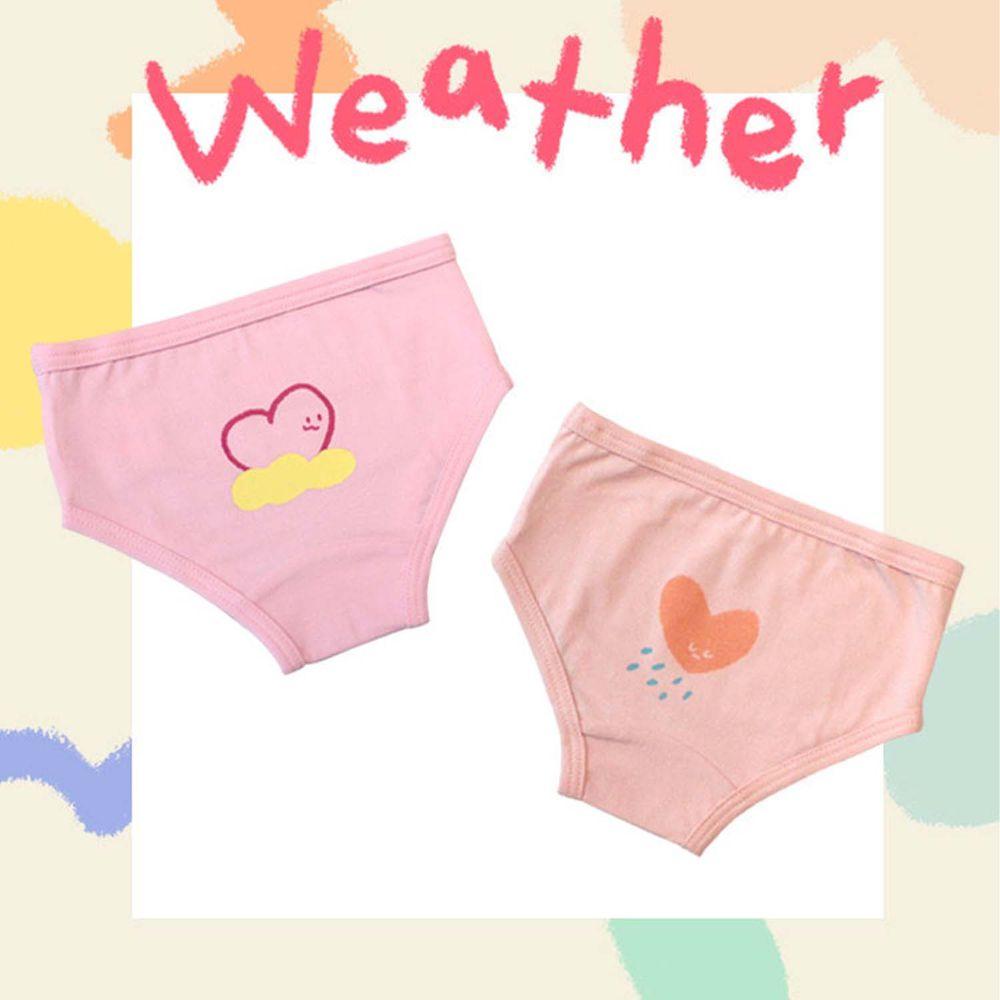 韓國 Kokacharm - 韓國製兒童包臀內褲-兩件組-WEATHER_Girl