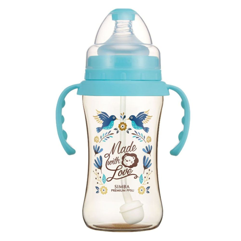 Simba 小獅王辛巴 - 桃樂絲 PPSU 寬口雙凹中奶瓶-自動把手-蔚藍圓舞曲-270ml