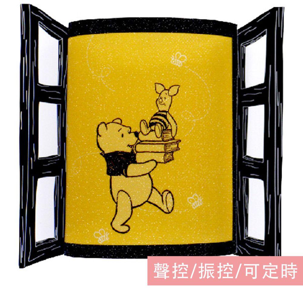 日本 TOYO CASE - LED 夜燈壁飾-迪士尼窗戶系列-維尼 (約8x3x11cm)