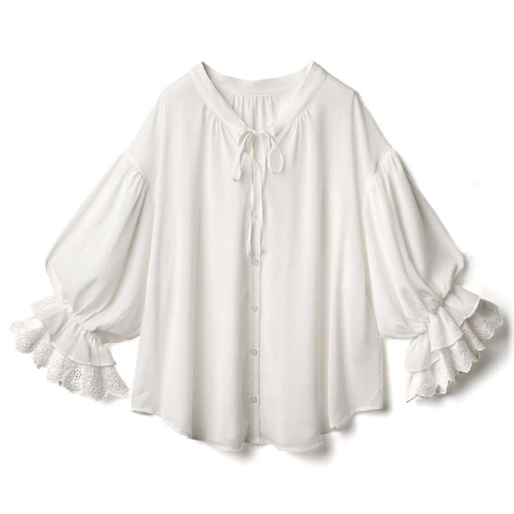 日本 GRL - 浪漫層次感垂墜襯衫 / 外套-天使白 (Free)