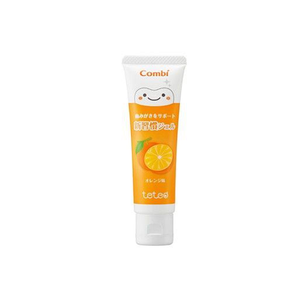 日本 Combi - teteo 幼童含氟牙膏-橘子 (6顆牙(約9個月)以上適用)