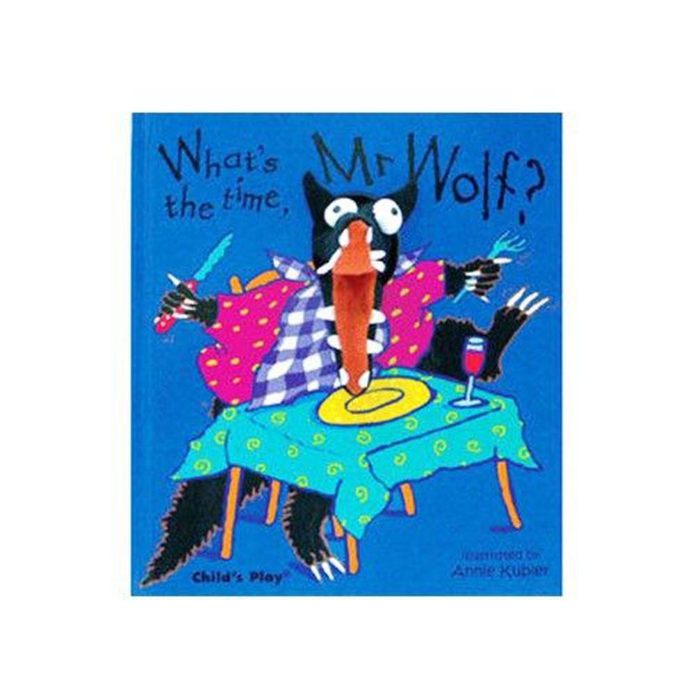 麥克兒童外文書店 - 有聲書-WHATS TIME MR WOLF/書+CD