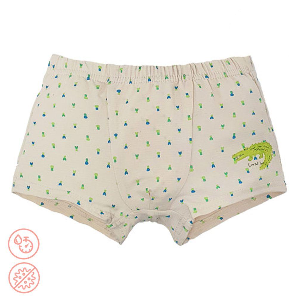 韓國 Ppippilong - 速乾透氣抗菌四角褲(男寶)-螢光鱷魚