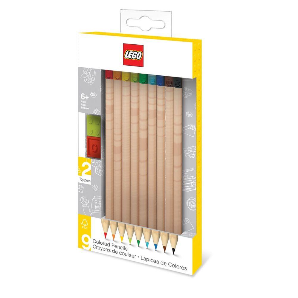 樂高 LEGO - LEGO積木彩色鉛筆 (9入)-長約17.5公分
