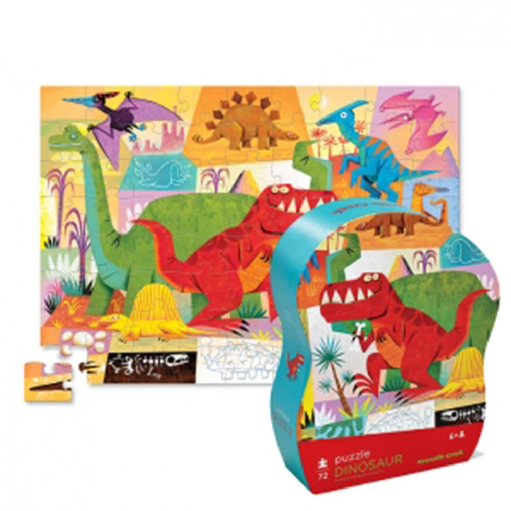 Crocodile Creek - 遊樂學習拼圖系列-恐龍世界 (72片)-6歲以上