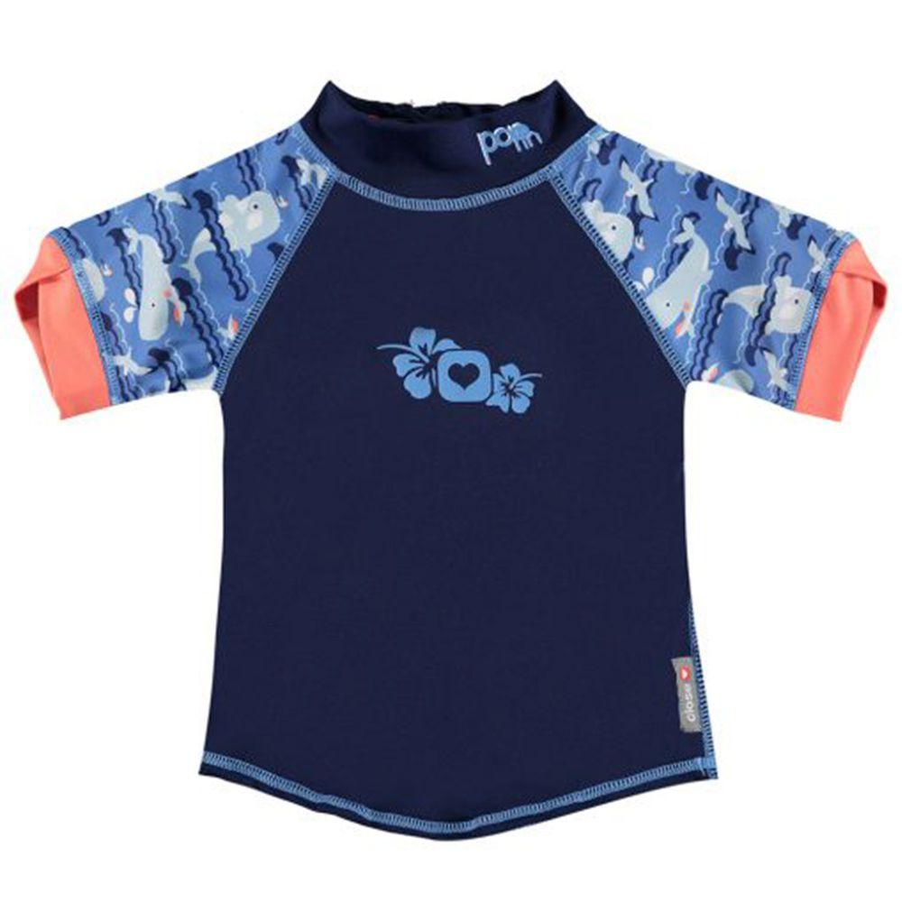 英國Pop-in - 嬰兒抗UV防曬泳衣-鯨魚