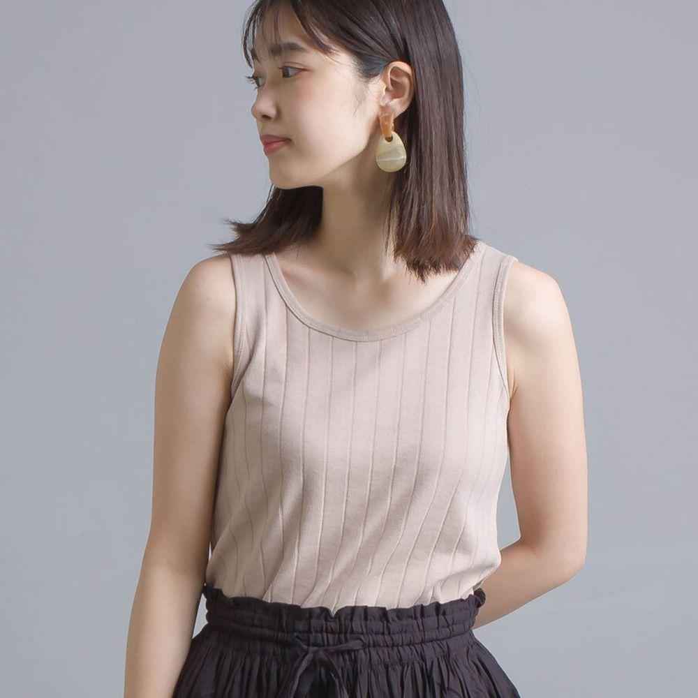 日本 OMNES - 防透汗加工 粗羅紋背心-杏