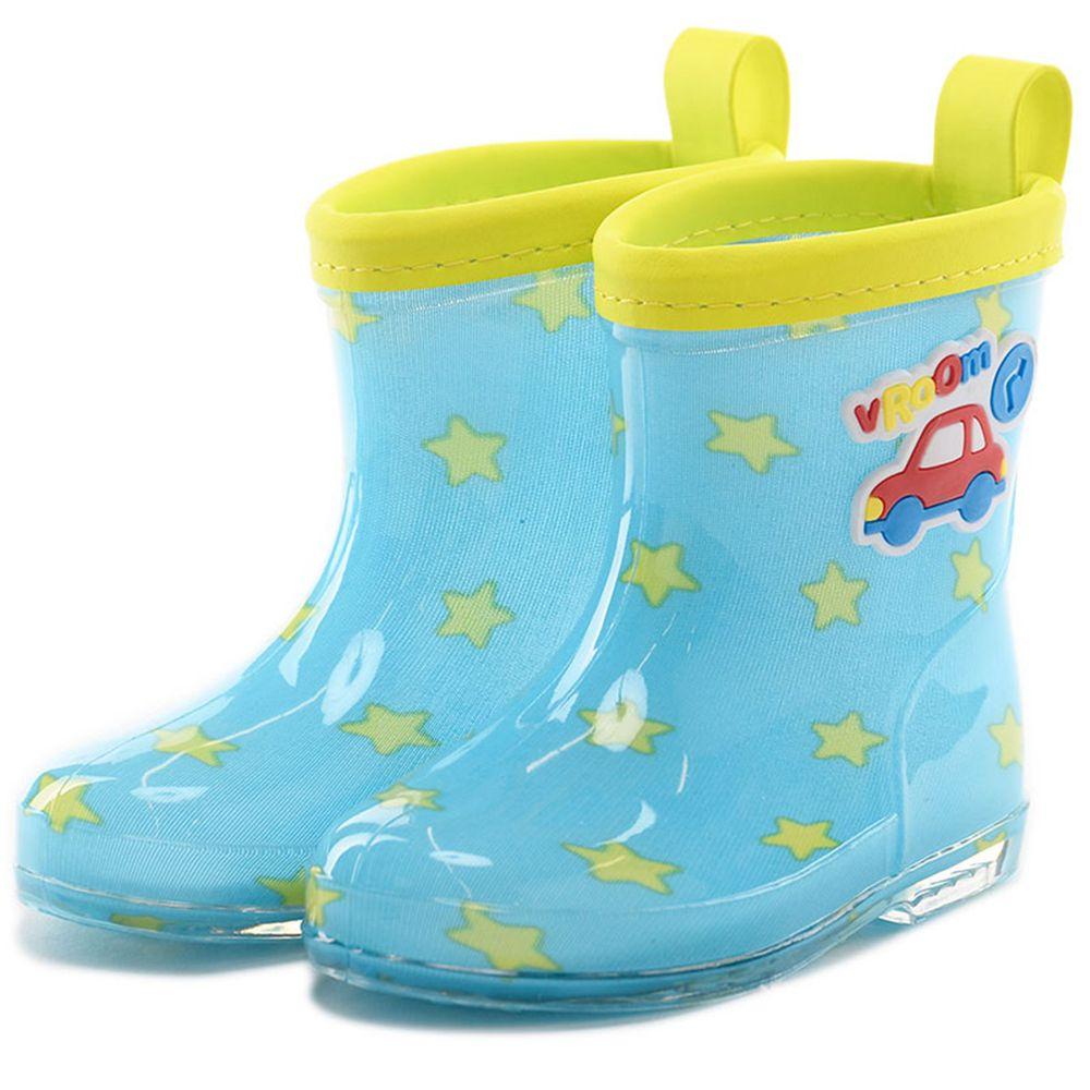 akachan honpo - 雨鞋-汽車-藍色