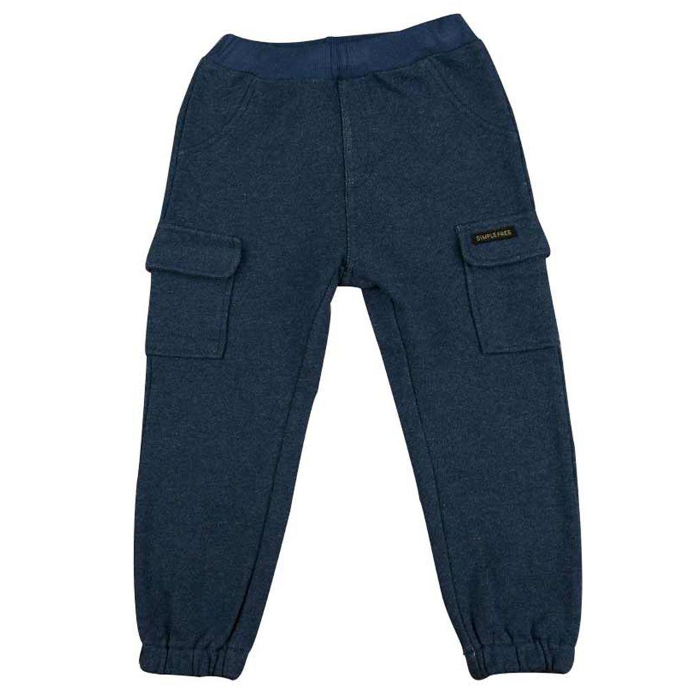 akachan honpo - 工作褲-深藍色