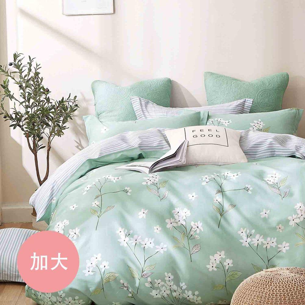 PureOne - 極致純棉寢具組-錦繡花期-加大三件式床包組