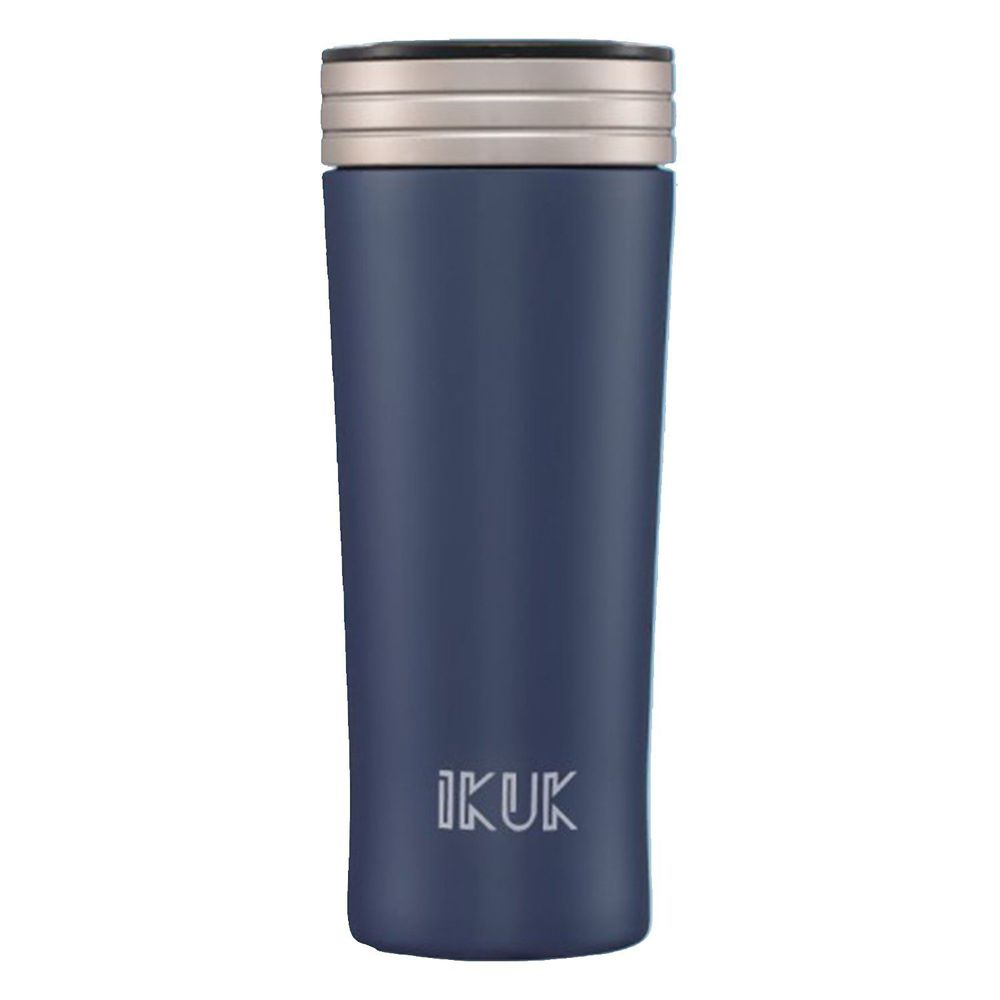IKUK - 真空雙層內簡約保溫杯-午夜藍 (300ML)