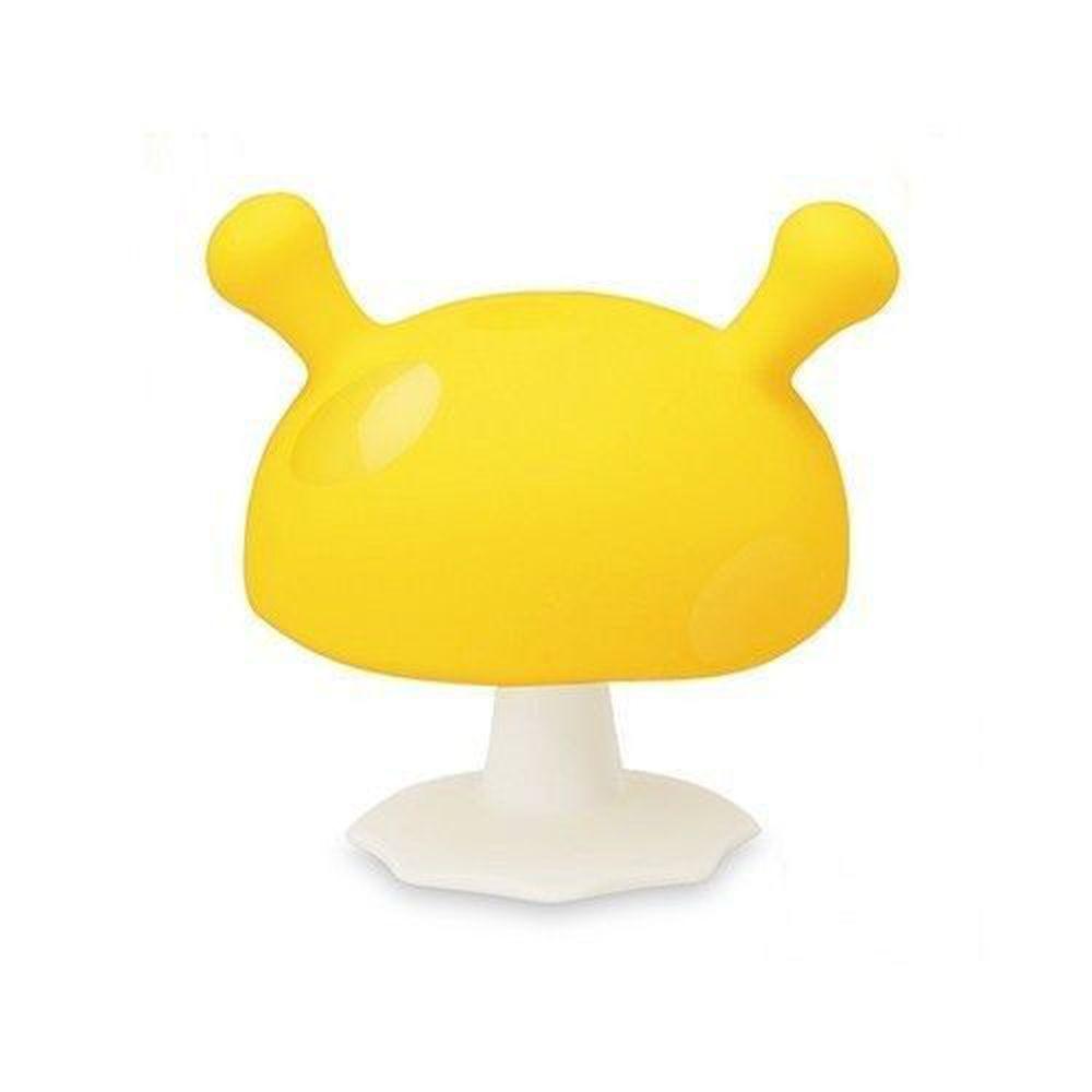 英國 mombella - Q比蘑菇固齒器-黃色