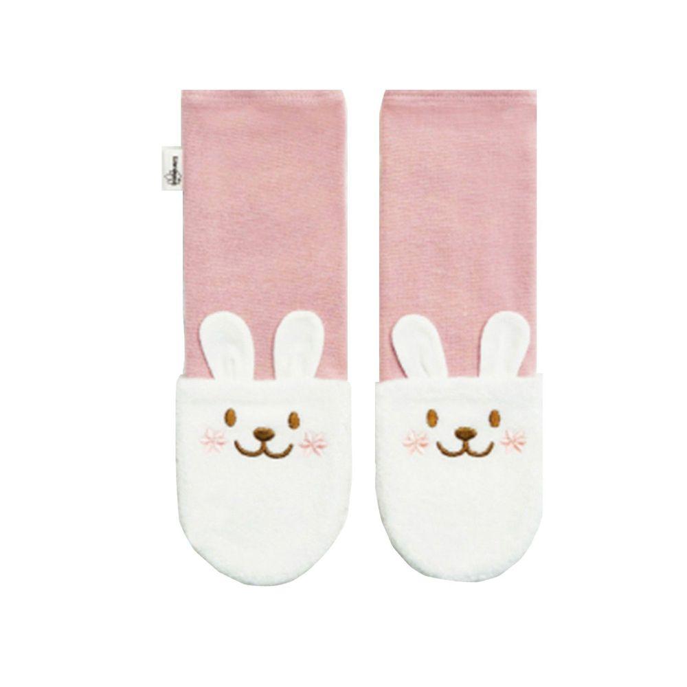 Edenswear 伊登詩 - 鋅健康嬰兒防抓臉造型袖套手襪-淺粉 (FREE)