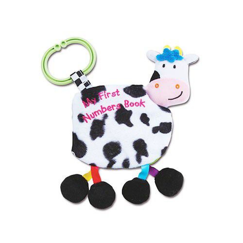 風車圖書 - 寶寶的動物鈴鐺布書-認識數字-牛
