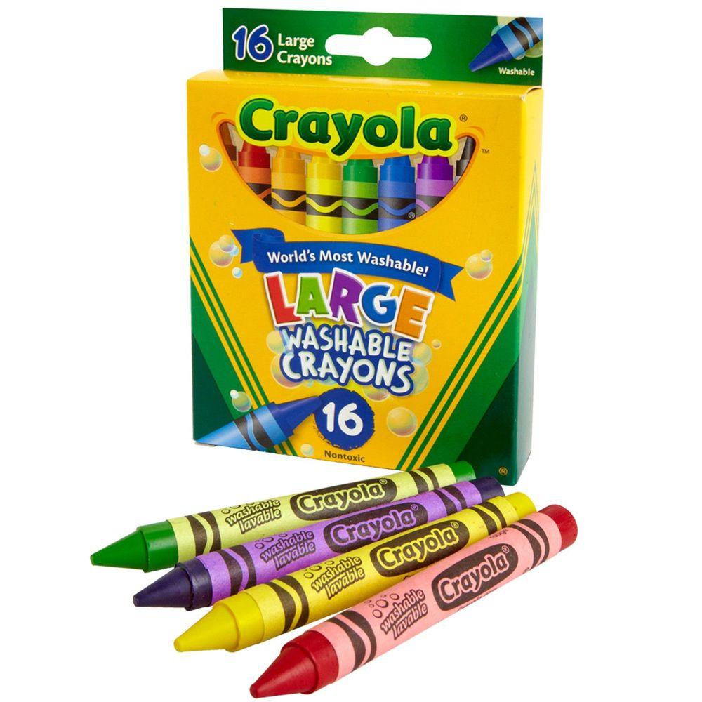 Crayola繪兒樂 - 可水洗大蠟筆16色