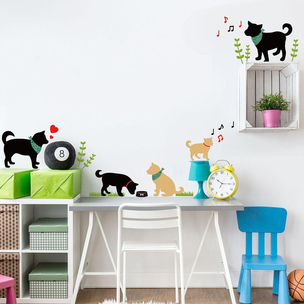 日本 TOKYO STICKER - 日本製 質感無邊框壁貼 [基本款]-柴犬散步 (A4)