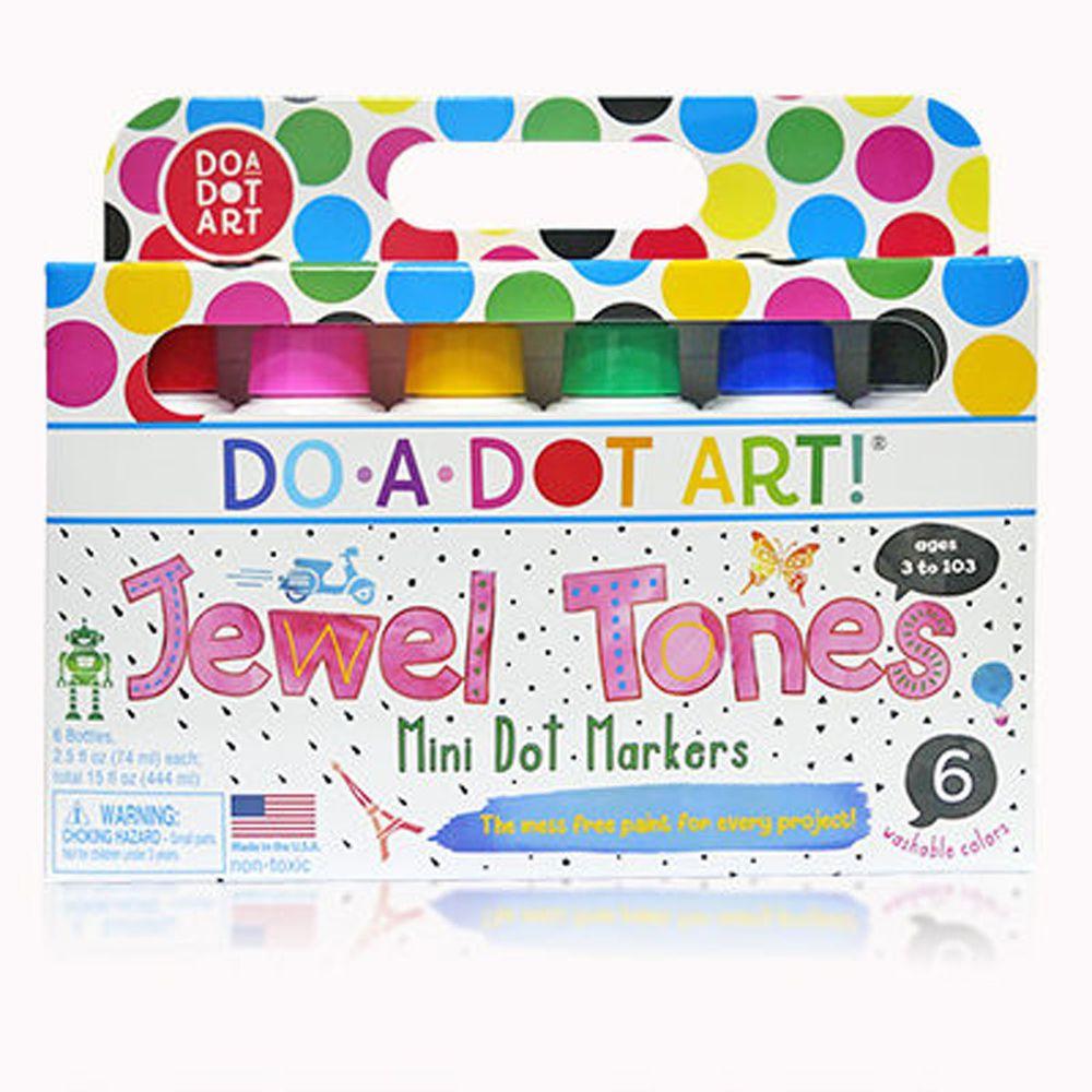 美國 Do A Dot Art - 迷你點點畫筆-6入寶石色-70ml/每支