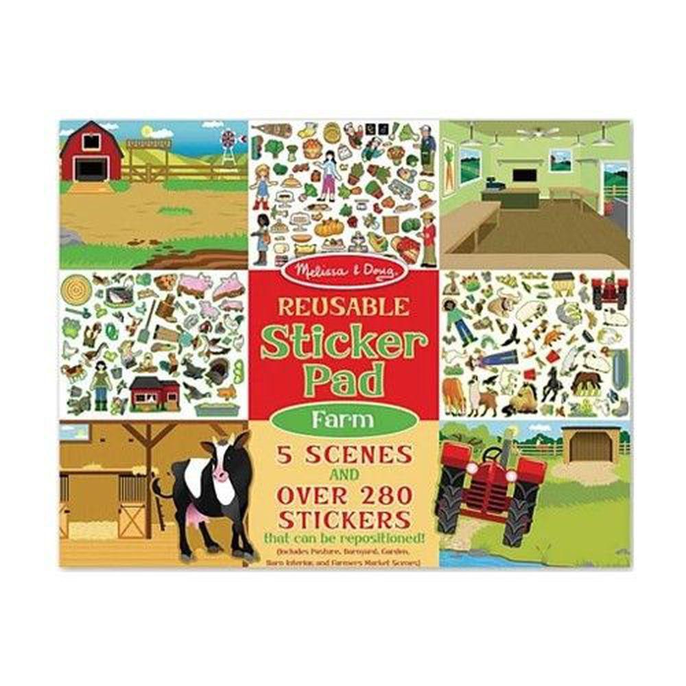 美國瑪莉莎 Melissa & Doug - MD 貼紙簿-可重複貼-農場